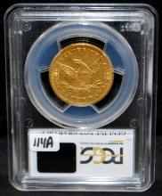 SCARCE 1860-0 $10 LIBERTY GOLD COIN - PCGS GENUINE