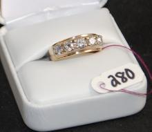 14K APPROX 1CTW DIAMOND BAND
