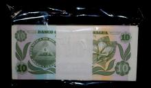 100 NICARAGUA 10 CENTAVOS MINT WRAPPED NOTES