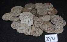 40 STANDING LIBERTY QUARTERS FROM SAFE DEPOSIT