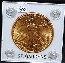 SCARCE 1924 $20 SAINT GAUDENS GOLD COIN