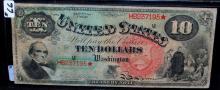 RARE $10 TREASURY NOTE - SERIES 1869