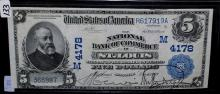 $5 NATIONAL CURRENCY - ST. LOUIS - SERIES 1902