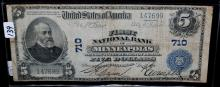 $5 NATIONAL CURRENCY - MINNEAPOLIS - SERIES 1902