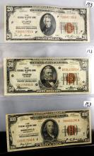 $100,$50,$20 NATIONAL CURRENCY NOTES