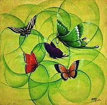 Oreste Sosa , Dominican School, butterflies
