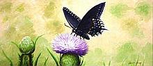 Oreste Sosa , Dominican School, butterfly
