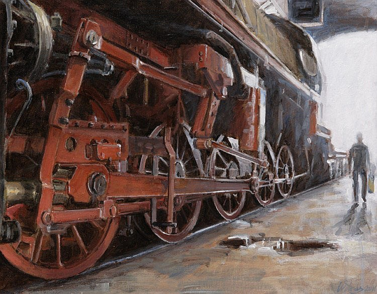 Walter Stoelwinder (1948), red locomotive