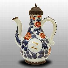 Early ewer with metal mount, 18th century