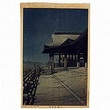 Hasui Kawase(1883-1957), Kyoto Kiyomizu Temple, Japanese woodblock print, 1933