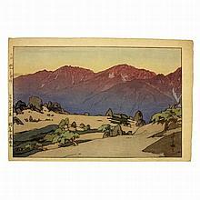 Hiroshi Yoshida (1876-1950), Manotake and Notoridake, Japanese woodblock print 1928