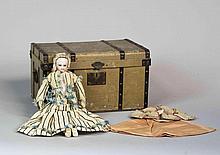 Poupée de mode, de type Parisienne, avec tête et buste en biscuit pressé