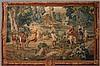 TAPISSERIE DES MANUFACTURES ROYALES DE BRUXELLES en laine et soie à décor d'une scène de chasse à courre Royale au cerf, d'après un carton de Jean Baptiste OUDRY (1686-1755)., Jean-Baptiste Oudry, €40,000