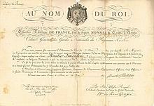 CHARLES X (1757-1836) Roi de France. L.S. et P.S.