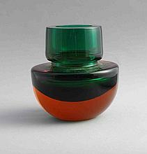 Flavio POLI (Attribué à). Vase à panse ovoïde et