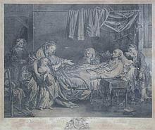 GREUZE Jean-baptiste (D'après). Le Gâteau des Rois