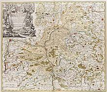 Sac. Rom. Imperii Principatus & Episcopatus Bambergensis. Nova Tabula ... Teilkol. Kupferstichkarte. Nürnberg, Homann, um 1720. Plattenmaße ca. 50 x 58,5 cm.
