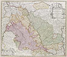 Archiepiscopatus et Electoratus Coloniensis ut et Ducatuum Iuliacensis et Montensis. Teilkol. Kupferstichkarte. Nürnberg, Homann, um 1720. Plattenmaße ca. 49 x 58 cm.
