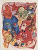 Grosz, George Ecce Homo. Mit 84 Lithographien und 16 farb. Tafeln. Berlin, Malik-Verlag, 1923. 2 Bll., 84 Lith., 16 Taf., 1 Bl. Folio. Illustr. OKart. (etw. berieben, Kanten beschabt, leicht gebräunt)., George Grosz, €900