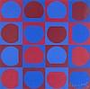 Vasarely, Victor Pandema. Sondernummer. Mit zahlr. Abbildungen und 1 signierten Original Serigraphie v. Vasarely Herausgegeben von Carl Laszlo. 18 Bl. 4°. OGeheftet., Victor Vasarely, €100