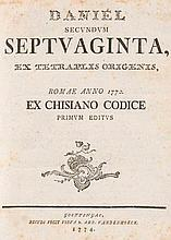 Daniel secundum septuaginta ex tetraplis origenis.