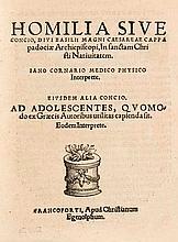 Caesariensis, Basilius Cornarius, Janus. Homilia