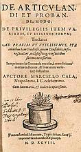 Cala, Marcello De articvlandi et probandi modo, de