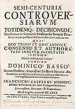 Bassus, Dominicus Semi-Centuria controversiarum