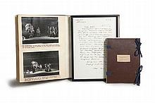 Slg. Brecht/ Mutter CourageUnique and significant collection with materials from the theatre work of Bertolt Brecht and Ruth Berlau on the play 'Mother Courage and Her Children'. Provenance: From the archives of Berliner Ensemble ( with orig.