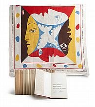 Sammlung BrechtCollection of 8 objects from the estate of a member of the theatre house Berliner Ensemble. - The key piece of the collection is a scarf with an image designed by Pablo Picasso, the motto