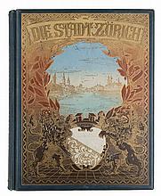 8 meist reich illustrierte Bände zur Geschichte und Landeskunde der Schweiz. Verschiedene Formate Gr.-8° bis Fol. Teils illustr. Lwd u. HLdr.