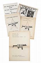 Seltene Sammlung von 5 programmatischen Schriften bzw. Flugschriften der Roten Armee Fraktion.