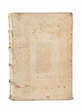 Aristoteles Commentariorum Colegii Conimbricensis Societatis Jesu. In octo libros Physicorum Aristotelis. 2 Tle. in 1 Bd. Mit Titel in Rot- und Schwarz und 2 Holzschnitt TVignetten. 3 Bll., 542 Sp. (letztes Bl. falsch pag.), 7 Bll., 1 w. Bl., 8 Bll.,