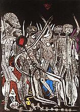Heinze, Frieder u. Olaf Wegewitz Unaulutu. Steinchen im Sand. Ein Malerbuch. Leipzig, Dürer-Presse, 1985. Ca. 50 Bll. Folio. Doppelbödiger Reispapierumschlag, mit Reiskörnern gefüllt u. Schilfrohr-Rücken. In bedrucktem Wellpappe-Schuber u.