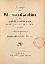 Sammlung von 6 Bänden Militaria-Schriften. 1810-1878.