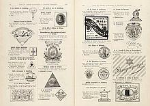 Warenzeichenblatt. Herausg. vom Kaiserl. (später: Deutschen) Patentamt. Jg. 1890, 1907, 1914, 1952, 1953 und Register in zus. 17 Bänden. Berlin, 1907-53. 4°. OHLdr. (1, (RGelenk überklebt, kl. Läsuren)), HLwd. (1), OLwd. (6), OHLwd. (7).