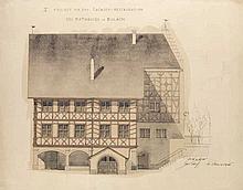 David Rordorf-Mahler, geb. Rordorf, Architekt in Zürich (1856-1936). Sammlung von 14 Skizzenbüchern mit zahlreichen teils ankolorierten OZeichnungen, ca. 540 Bleistiftzeichnungen, 16 aquarellierten OBleistiftzeichnungen, 24 OAquarellen, 15
