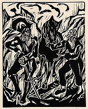 Wernher der Gärtner Meier Helmbrecht. Mit 12 Holzschnitten von Herm Dienz. (Zürich, Seldwyla, 1924.) Unpag. Folio. HLdr.-Mappe.