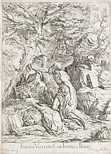 Lefebvre, Valentin Titianus Vecellius, Cad. invent. & pinxit. Radierung nach Titian. Blatt aus der Folge: Opera selectiora quæ Titianus Vecellius ... et Paulus Calliari Veronensis ... Venedig, 1682. Plattenmaße ca. 46 x 33 cm.