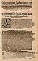 Colloquia Oder Tischreden ... Auffs newe Corrigieret. Mit Titelvignette u. Druckermarke auf dem letztem Blatt. Frankfurt, Lechler für Hüter, 1568. Fol. 12 nn. Bll., 449 num. Bll., 15 (von 16) nn. Bll. Pgt. d. Zt. (fleckig u. berieben, Kapitale seitl.
