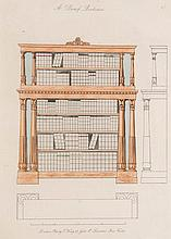 King, Thomas The modern style of cabinet work exemplified, in new designs, practically arranged on 72 plates, containing 227 designs, (including fragmental parts). Mit 72 tlw. kolorierten gestoch. Tafeln. London, Architectural Library, (um 1835). 4