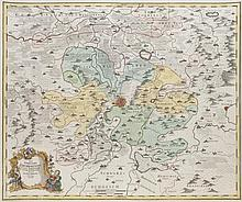 Nova Territorii Erfordiensis in suas praefecturas accurate divisi descriptio. Teilkol. Kupferstichkarte. Nürnberg, Homann, dat. 1762. Plattenmaße ca. 49 x 58 cm.