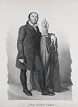 Heine, Friedrich Ludwig Johann Gottfried Schadow. (1830). Lithographie nach Ludwig Buchhorn. Blattmaße 56 x 41 cm.