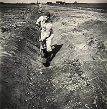 Feldpost Arbeitsmann Werner Dittmann. Sammlung von 83 OPhotographien (Vintages, Silbergelatine Abzüge). Formate zwischen ca. 3,8 x 5,2 cm u. 8 x 13 cm. Mont. in Photoalbum. 8°. HLwd. d. Zt. (leicht berieben u. bestoßen).