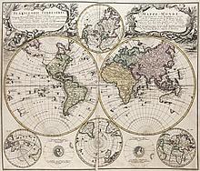 Homann, Johann Baptist Atlas Compendiarius seu ita dictus Scholasticus Minor. Mit gestochenem Titel und 38 kolorierten Karten. (Nürnberg), Homann, 1753. HLdr. d. Zt. (berieben, bestoßen, beschabt, Gelenk gelockert).
