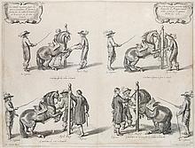 Vorsterman, Lucas Methode nouvelle et invention de dresser le cheval. Kupferstich nach Abraham van Diepenbeke. London 1737. 39,5 x 51,5 cm (45 x 56 cm).