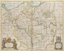 Novissima Poloniae Regni Descriptio. Teilkol. Kupferstichkarte. Amsterdam, Jansson, um 1640. Plattenmaße ca. 44 x 54 cm.