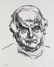 Meidner, Ludwig Selbstbildnisse. Konvolut aus 2 Werken. Lithographien auf BFK Rives. 56 x 44,5 cm. Je Signiert.