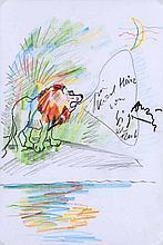 Anzinger, SiegfriedLöwe. 2006. Zeichnung in Blei-