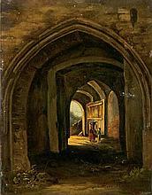 Kromer, PedorZwei Figuren in einer gotischen